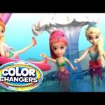 Mermaid Polly Pocket Color Changers Race 'n Splash Pool Party Dunk Tank Disney Frozen Elsa Anna