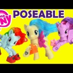 My Little Pony POSEABLE Ponies COCO Pommel, Twilight, and Rainbow Dash