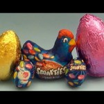 New Learn Colours with Smarties Chocolate Surprise Eggs!