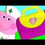 Nurse Peppa's Medical Case Toy Nickelodeon Cartoon Peppa Pig Kinder Christmas Shopkins