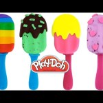 Play-Doh How to Make Fun Ice Cream Popsicles * Creative DIY for Kids RainbowLearning