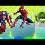 Marvel Spiderman Bath Bomb Surprises Hulk & Captain America. By Magic Toys collector :)
