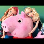 Peppa Pig Hug 'n Oink with Disney Frozen Princess Anna y Elsa – Talking Plush Felpa Pelúcia