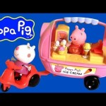 Peppa Pig Ice Cream Sundae Cart Theme Park with Scooter Play Doh – Carrito de Helados Nickelodeon