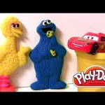 Play-Doh Cookie Monster ABC Company Sesame Street With Lightning McQueen Pixar Cars Playdough