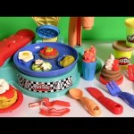 Play Doh Flip 'n Serve Breakfast Waffles Pancakes Bacon Smoothies Play Dough Cocina para Desayuno
