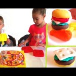Play doh for kids . Kids make burger , fast food menu ,  Funny video KIDS TOYS CHANNEL