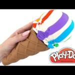 Play Doh How To Make a Giant Ice Cream RainbowLearning