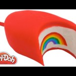 Play Doh How to Make a Giant Rainbow Ice Cream Popsicle DIY RainbowLearning