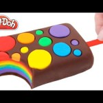 Play-Doh How to Make a Rainbow Circle Popsicle Creative DIY For Kids RainbowLearning