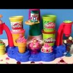 PLAY DOH Magic Swirl Ice Cream Shop Playset Sweet Shoppe Sorveteria Fábrica de Sorvetes Heladeria