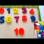 Play doh numbers 1 to 10. Kids learning numbers