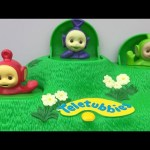 Playing Teletubbies Magic Hill Pop Up Kids Toys Playset Lala Dipsy Tinky Winky Po