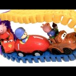 Pocoyo Car Super Circuit Race Track Motorized Juguete Coche de Carreras Swiggle Nickelodeon PeppaPig