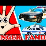 POLICE CAR Finger Family Song | Police Cars From Around The World | Surprise Eggs | Nursery Rhymes