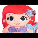 Princess Color and Create Mermaid Ariel – Disney Princess Coloring/Painting/Drawing