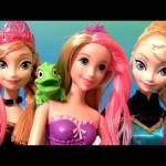 Rapunzel Bath Magic Color Change Doll with Frozen dolls Princess Anna Elsa