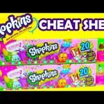 Shopkins Season 2 Cheat Sheet 2 20 Mega Packs of Shopkins Season 2