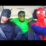 Spiderman vs Batman vs Hulk Dancing in a Car – Superhero Funny Movie in Real Life