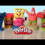 Spongebob Patrick Play Doh Stampers with Cookie Monster & Lightning McQueen Disney Pixar cars toys
