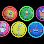 SPONGEBOB Squarepants  Play Doh Cans Surprises Toys Patrick Squidward  Sandy Cheeks Zootopia Toys.