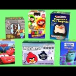 Surprise Boxes Angry Birds, Penguins of Madagascar, Disney Pixar Cars 2, Monsters University