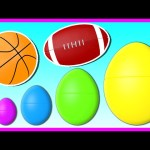 Surprise Eggs Animation! SPORTS BALLS | Surprise Eggs Smallest to Biggest! Learn Colors & Sizes
