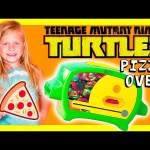 TEENAGE MUTANT NINJA TURTLE Pizza Oven Funny Huge TMNT Video Toys Review