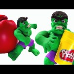 The Incredible Hulk Stop motion * Marvel Superhero Movie Clips * Play Doh