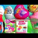 Toys Surprise Kinder Disney Princess Cupcake Surprise Estrela Chupa Chups My Little Pony NUM NOMS