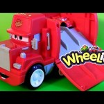 Wheelies Cars Mack Truck Hauler Radiator Springs Playset Disney Pixar Lightning McQueen Talking Mack