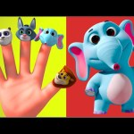 Wild Animals Finger Family 3D | Nursery Rhymes | Rhymes For Children