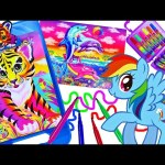 Lisa Frank Coloring Set Magic Pet Color Changing Imagine Ink My Little Pony MLP Kids Coloring Books