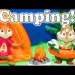 ALVIN AND THE CHIPMUNKS Nickelodeon Alvin Simon Theodore Camping Trip Toys Video parody