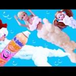 BARBIE Foam Bath MERMAIDS Mr Bubble Bath Time Fun! Foam Soap Dress Up & Makeover + Ariel