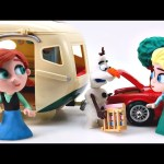 Olaf Pranks Elsa and Anna while Camping – Disney Frozen Movie Clips Stop-Motion Play Doh videos