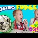 Kid Size Cooking: Oreo Cookies n Cream Fudge