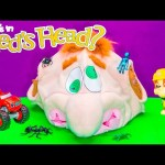 NED'S HEAD Surprise Game Paw Patrol + Blaze Play Ned's Head Surprise Egg Video Toys Unboxing