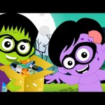 Halloween Trick Or Treat | Scary Nursery Rhymes | Kids TV Halloween Song
