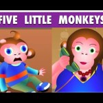 Five Little Monkeys Jumping on the Bed Nursery Rhyme – Cartoon Rhymes For Children