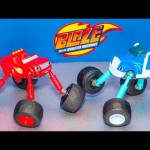 BLAZE AND THE MONSTER MACHINE Nickelodeon Monster Morph Blaze Monster Truck Video Toy Unboxing