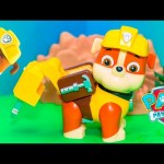 PAW PATROL Nickelodeon Paw Patrol Jumbo Rubble with Jack Hammer a Paw Patrol Video Toy Unboxing