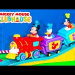 MICKEY MOUSE Disney Mickey Mouse Clubhouse Train Track Mickey Mouse Video Toys Unboxing