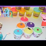 Hello kitty Play Doh Surprise Peppa pig Frozen Shopkins lalaloopsy MLPony  disney planes