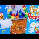 CHICKS GO BOOM Board Game Challenge ❤ Family Fun Night Chicken Game & Surprise Egg DisneyCarToys