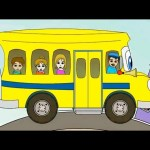 The Wheels on the Bus Nursery Rhyme | Cartoon Animation Song For Children