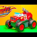 BLAZE AND THE MONSTER MACHINES Nickelodeon Blaze Transforming Fire Truck Toys Video Unboxing