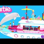 Barbie Luxury Yacht Mermaid Party — Mega Bloks Barbie Boat Toy Unboxing