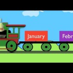 Months of the Year Train (January,February……)- Learning for kids