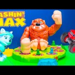 MASHIN MAX Paw Patrol + Blaze and the Monster Machines Play Mashin Max Video Toys Unboxing